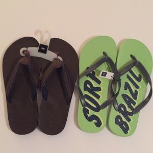 GAP NWT men's flip flops, size 10 and 11